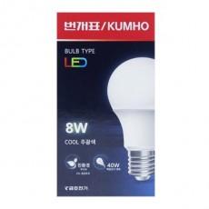 번개표 LED 전구 8w