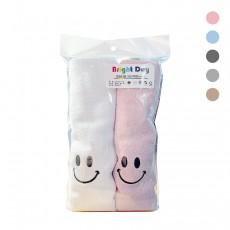 명일 행복(스마일) 타월 2P 색상랜덤