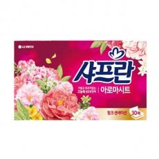 샤프란 뽑아쓰는 농축 섬유유연제 아로마 시트 핑크 센세이션 30매