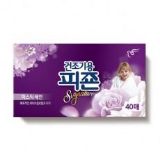 피죤 리치퍼퓸 섬유유연제 시트 건조기용 미스틱레인 40매