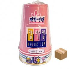 롯데 칼라컵 9온스 6P*100개(600개입)